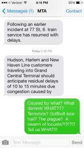 MTA text alert