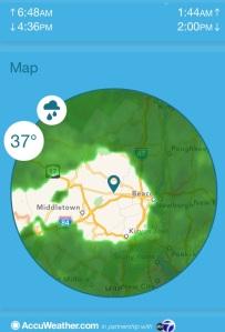 Rain radar photo